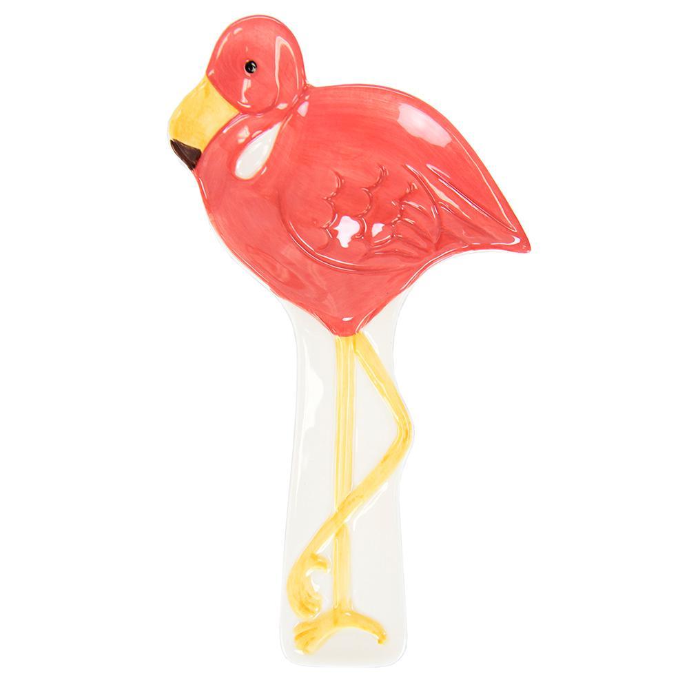 Tropical Flamingo Ceramic Spoon Rest
