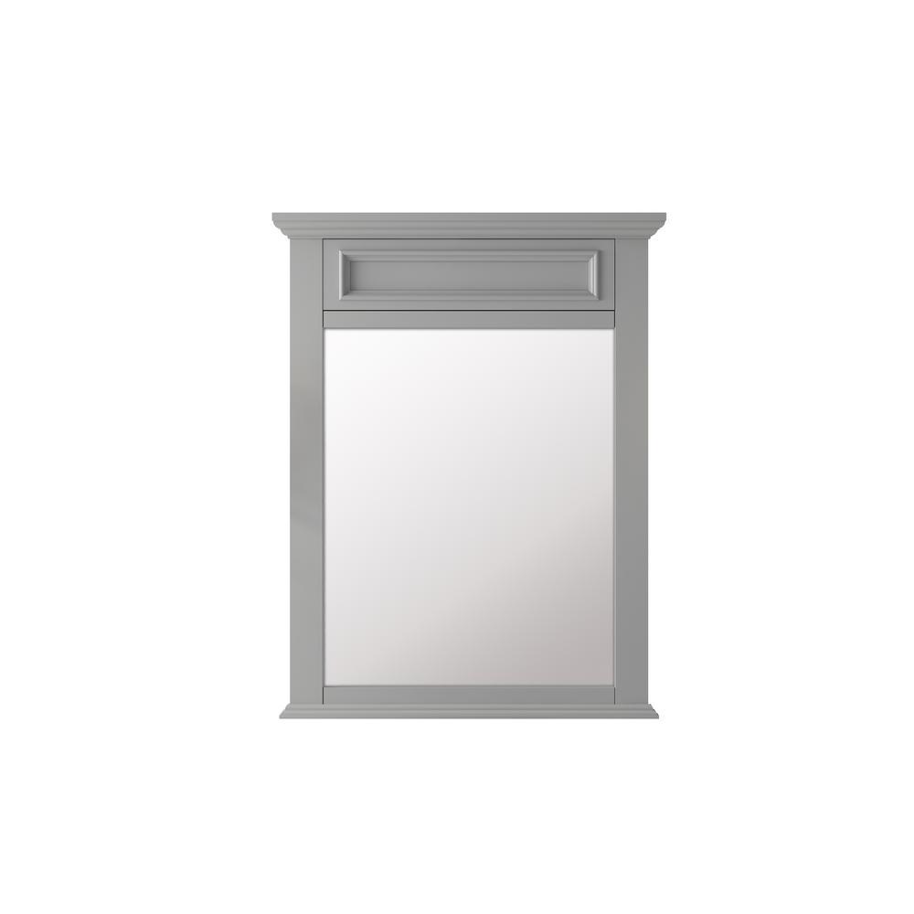 Sadie 28 in. x 36 in. Framed Wall Mirror in Dove Grey