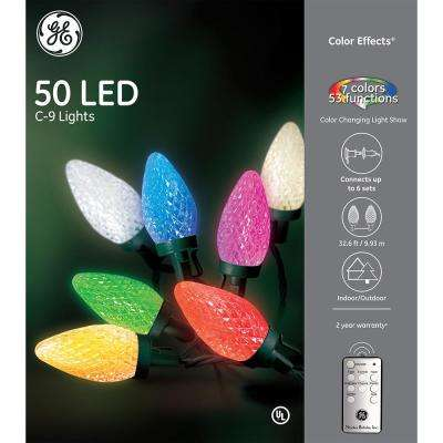 color effects rf controlled light show 50 light c9 string set