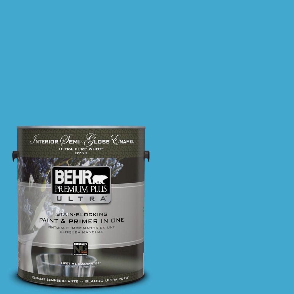 BEHR Premium Plus 1-gal. #T12-8 Reboot Zero VOC Flat Enamel Interior Paint-DISCONTINUED