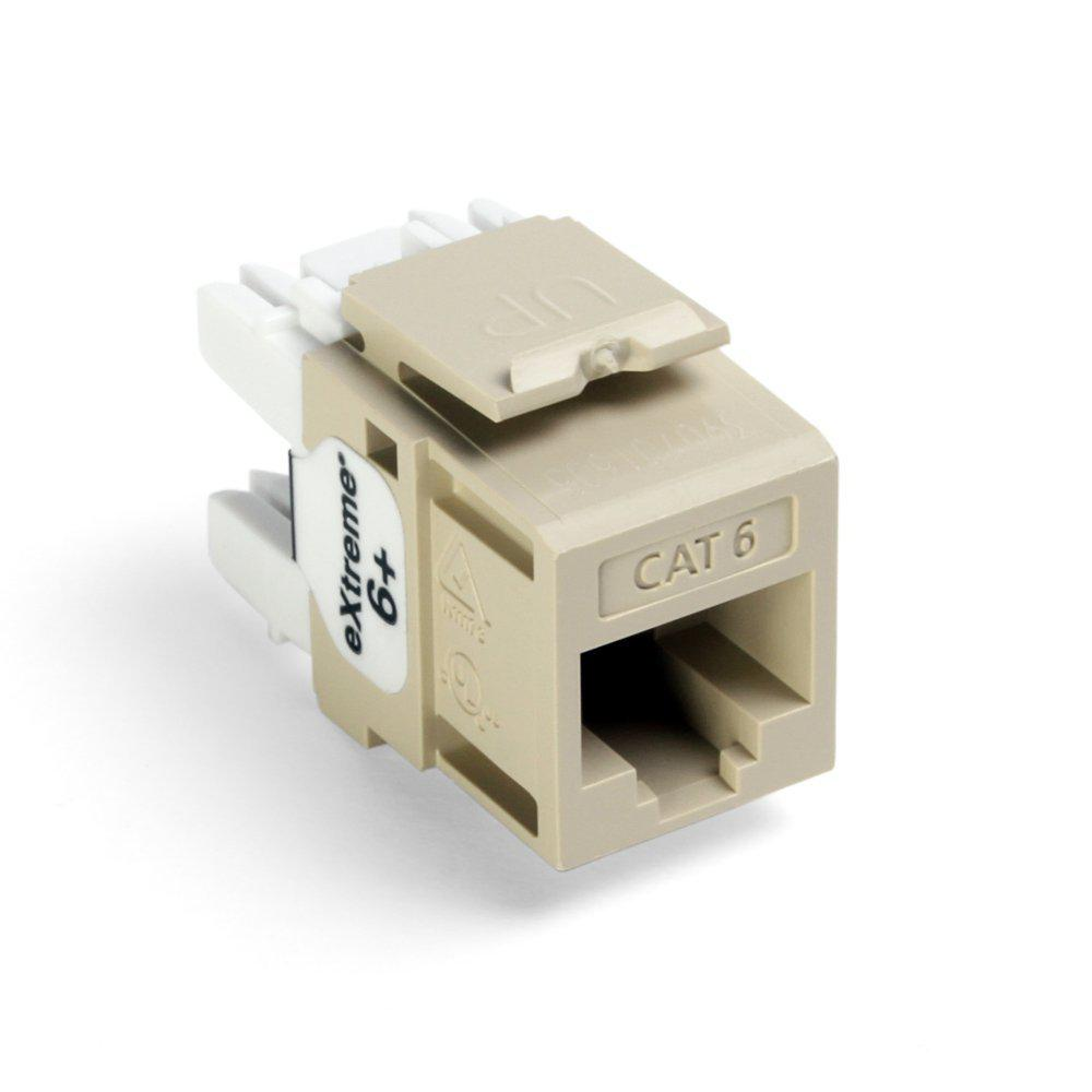 Leviton    QuickPort Extreme CAT 6    Connector    with T568AB    Wiring     Ivory61110RI6  The Home Depot