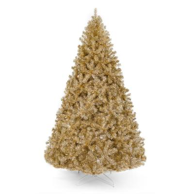 7.5 ft. Gold Unlit Tinsel Artificial Christmas Tree