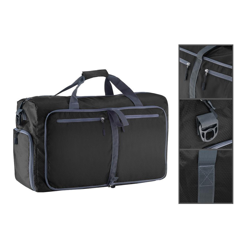 32e09fe191e9 Internet  303825593. +5. Wakeman 14.5 in. Black Folding Overnight Duffel Bag.  Write a review