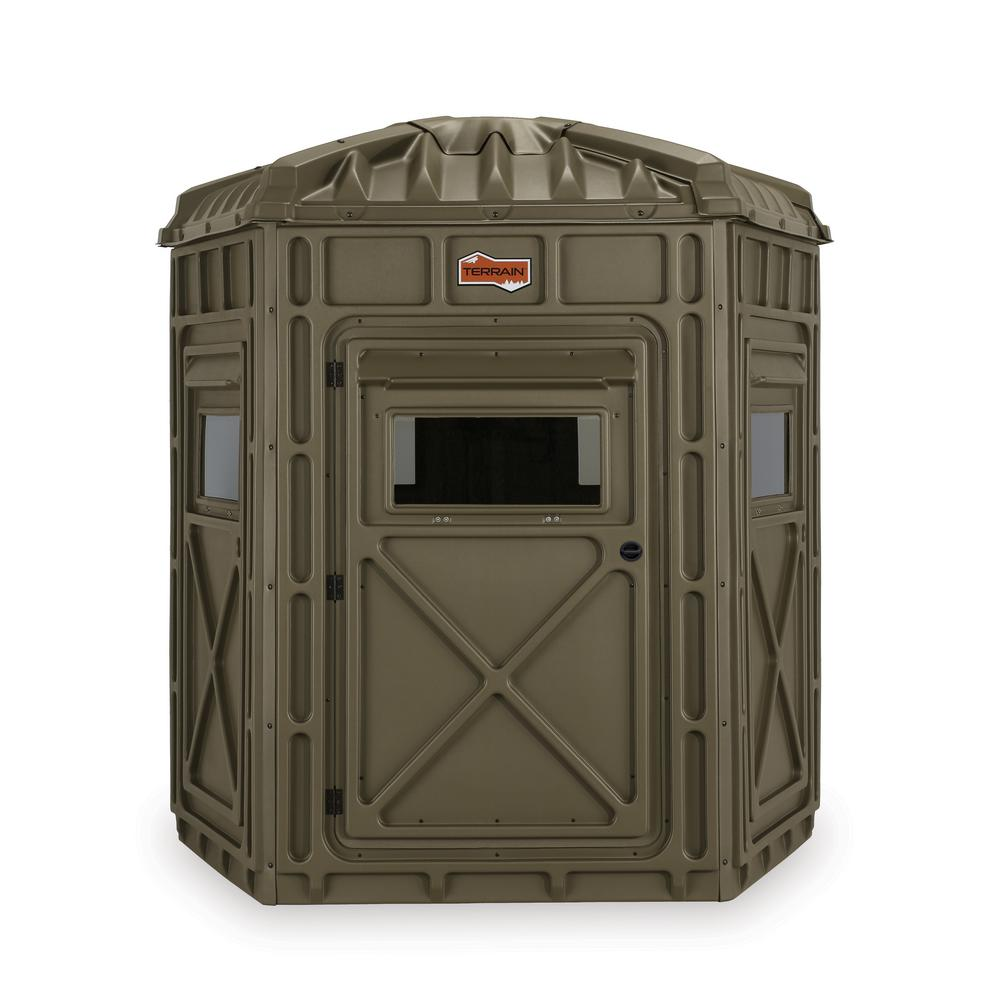 Kl outdoor terrain range 5 sided hunting blind 80121 the home depot kl outdoor terrain range 5 sided hunting blind solutioingenieria Image collections