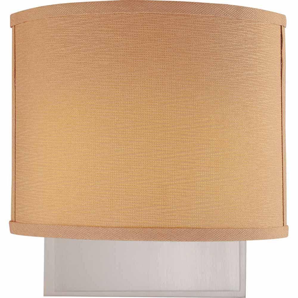 Lenor 2-Light Brushed Nickel Fluorescent Sconce