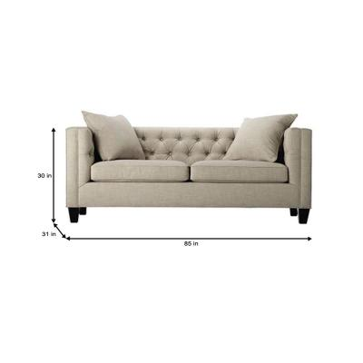 Fine Home Decorators Collection Lakewood 85 In Beige Linen Sofa Download Free Architecture Designs Scobabritishbridgeorg