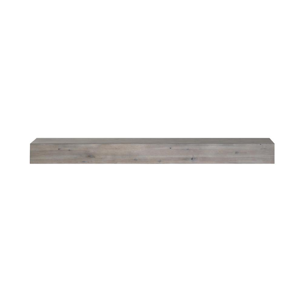 Astonishing Acacia 4 Ft Weathered Gray Distressed Cap Shelf Mantel Interior Design Ideas Clesiryabchikinfo