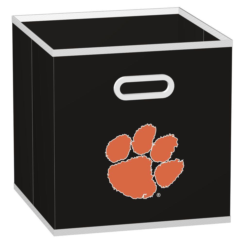 MyOwnersBox College Storeits Clemson University 10-1/2 in. x 11 in. Black Fabric Storage Drawer