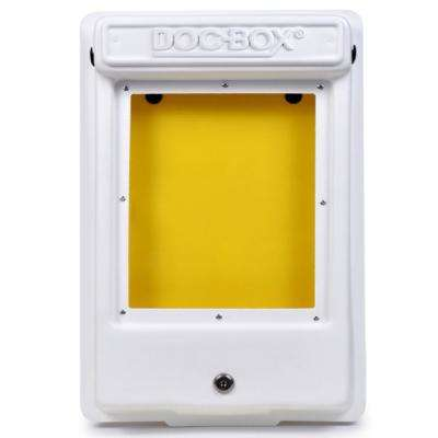 11.5 in. x 18.5 in. x 4 in. Outdoor/Indoor Smaller Posting Permit Box Unit with Window and Lock