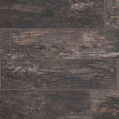 Montagna Smoky Black 6 In X 24 Glazed Porcelain Floor And Wall Tile