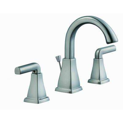 Brookglen 8 in. Widespread 2-Handle High-Arc Bathroom Faucet in Brushed Nickel