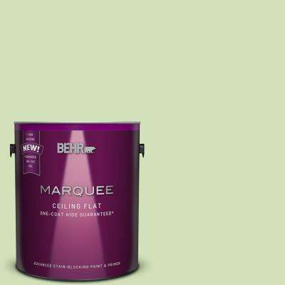 1 gal. #MQ4-45 Tinted to Spring Glow One-Coat Hide Flat Interior Ceiling Paint and Primer in One