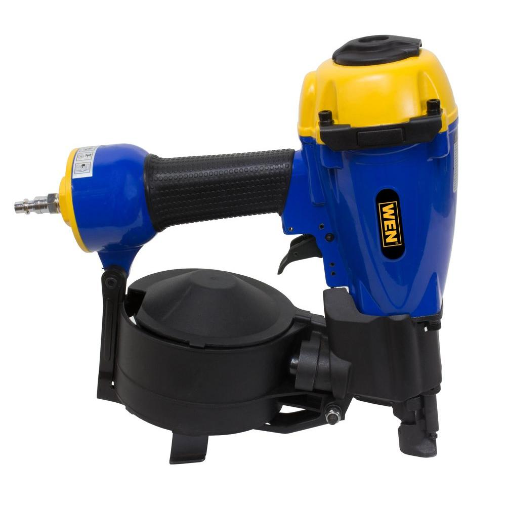 Wen 3 4 In To 1 3 4 In Pneumatic Coil Roofing Nailer