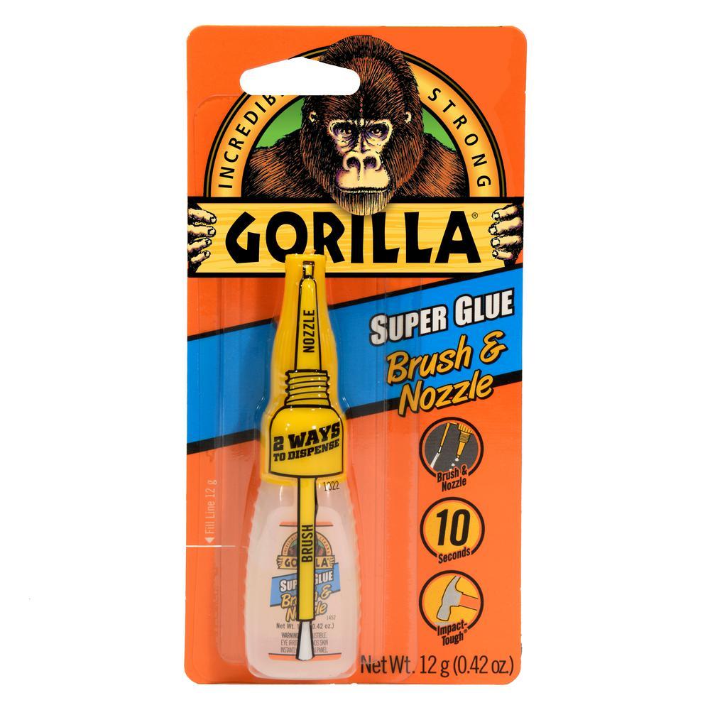 Gorilla 12 g Super Glue Brush and Nozzle (10-Pack)
