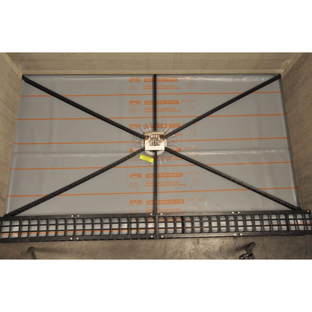 Pitch Perfect Shower Pan.Goof Proof Shower Quick Pitch Standard Shower Kit