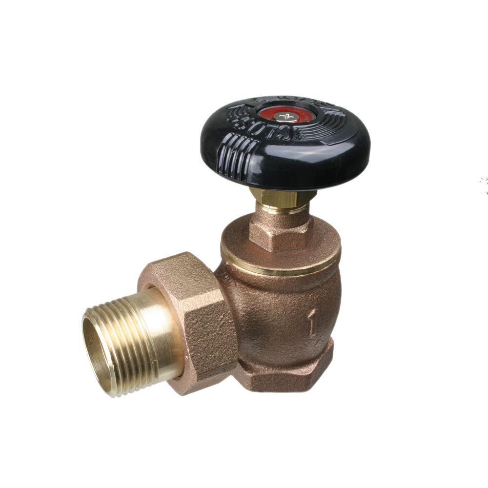 3/4 in. Steam Angle Threaded Brass Radiator Valve-UV35004 - The Home ...