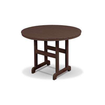 Monterey Bay Vintage Lantern Plastic Round Outdoor Dining Table