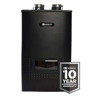 Indoor Residential Condensing Natural Gas Wall Mounted Combination Boiler and Tankless Hot Water Heater - 180,000 BTU/H
