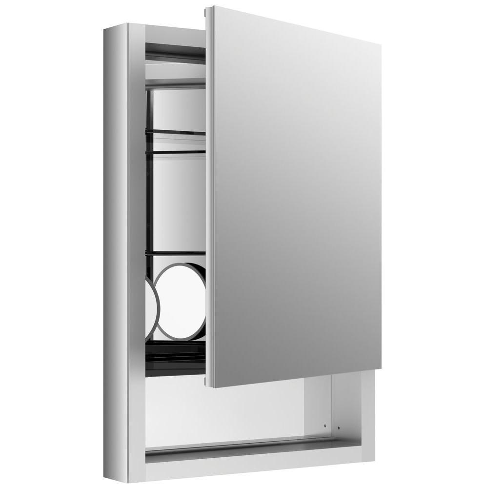Verdera 20 in. W x 30 in. H Recessed Medicine Cabinet in Anodized Aluminum
