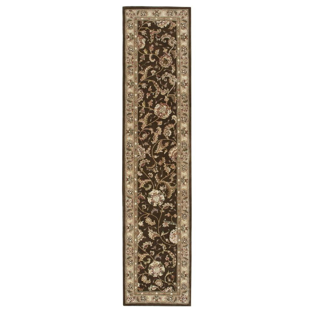 Nourison 2000 Brown 2 Ft 6 In X 12 Ft Rug Runner 729965