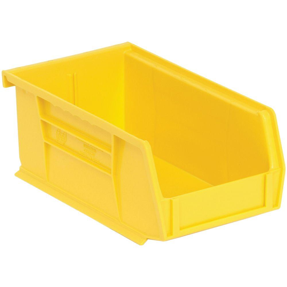 Edsal 1.45-Qt. Stackable Plastic Storage Bin in Yellow (24-Pack)