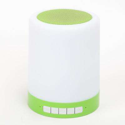 Rechargeable LED Touch Light with Bluetooth Speaker in Green