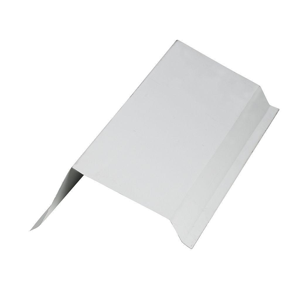 10 ft. Galvanized Steel Corner Gable Trim White Roof Panel