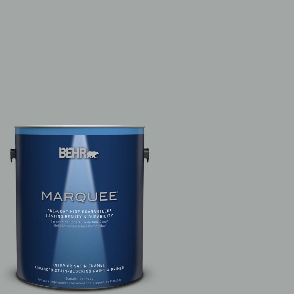 1 gal. #PPU25-04 Sharkskin Suit Satin Enamel Interior Paint