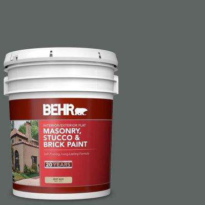 5 gal. #BXC-41 Charcoal Flat Interior/Exterior Masonry, Stucco and Brick Paint