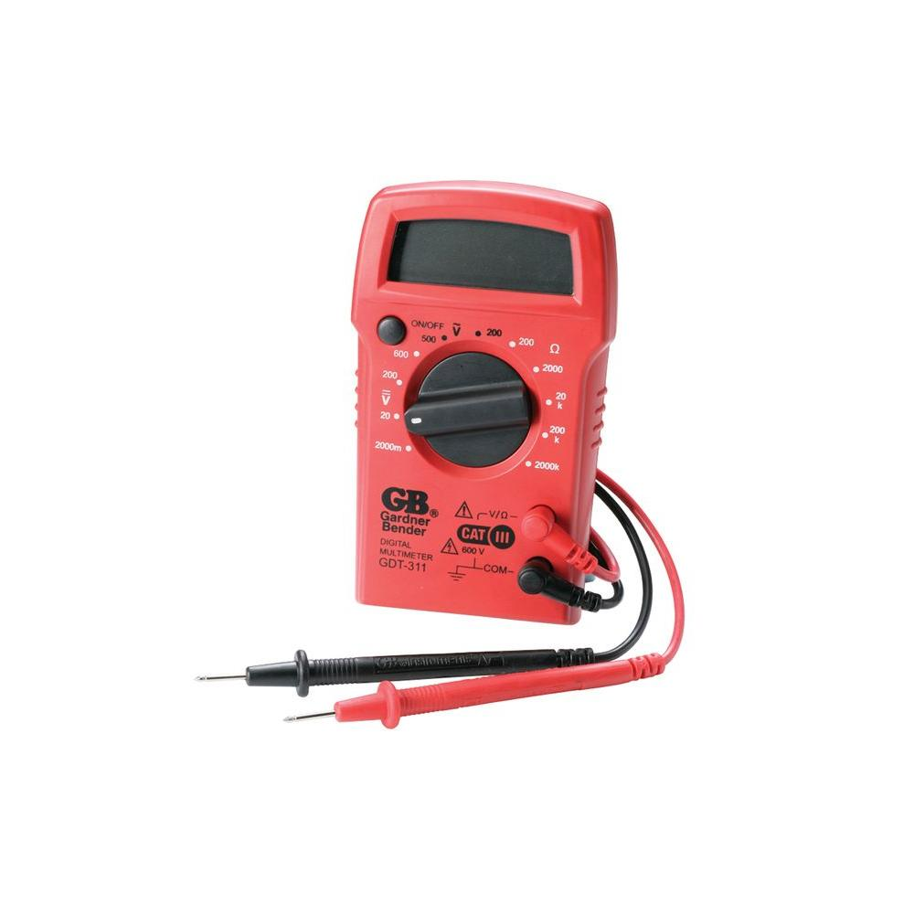 Gardner Bender 3-Function 11-Range Manual Digital Multimeter