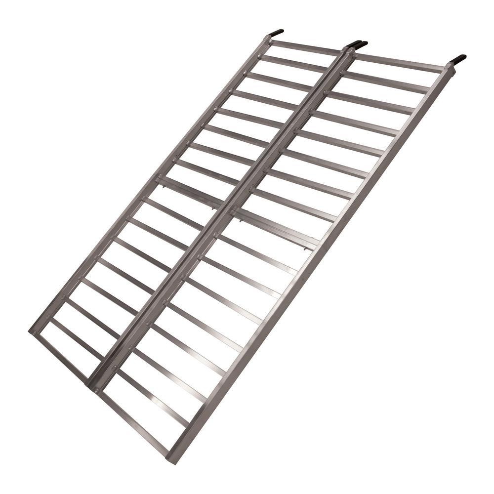 Aluminum Atv Ramps >> Yutrax Tx108 85 In X 50 In Aluminum Bi Fold Atv Utv Lawn Mower 1600 Lb Loading Ramp
