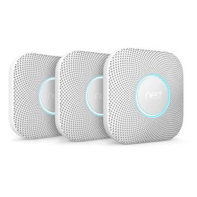 Nest Protect Battery Smoke and Carbon Monoxide Detector (3-Pack)