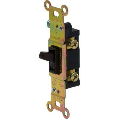 15 Amp Grounding Toggle Switch 120 VAC Pressure Lock Wiring, Brown