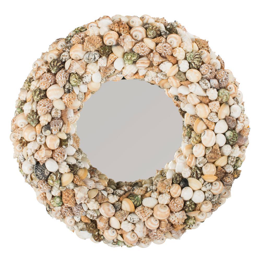 Cordero 20 in. x 20 in. Shell Framed Mirror