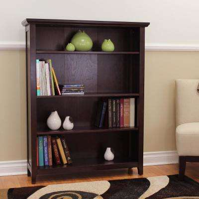 Lindendale 4-Shelf Espresso Bookcase