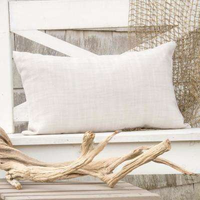 Natural Wovens Oyster Woven Decorative Pillow
