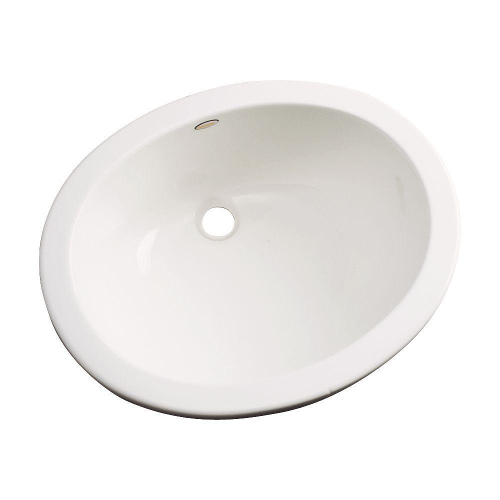 Thermocast Montera Undercounter Bathroom Sink in Biscuit
