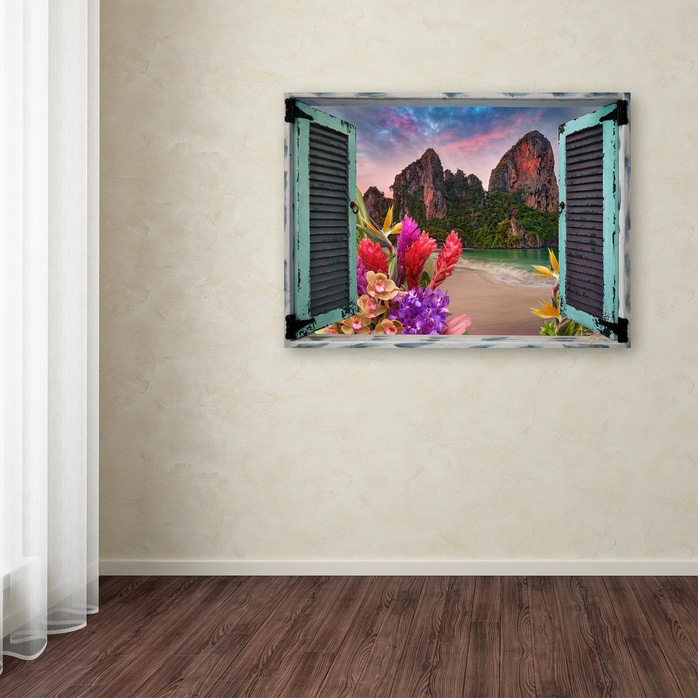Trademark fine art 18 in x 24 in tropical window to for 18 x 24 window