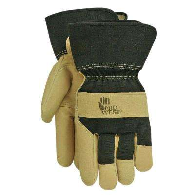 Leather Palm Black Canvas Back