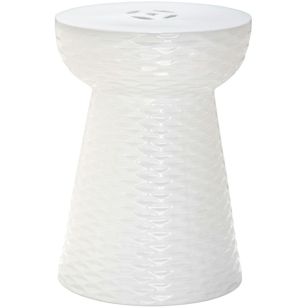 Safavieh Daphne White Garden Patio Stool