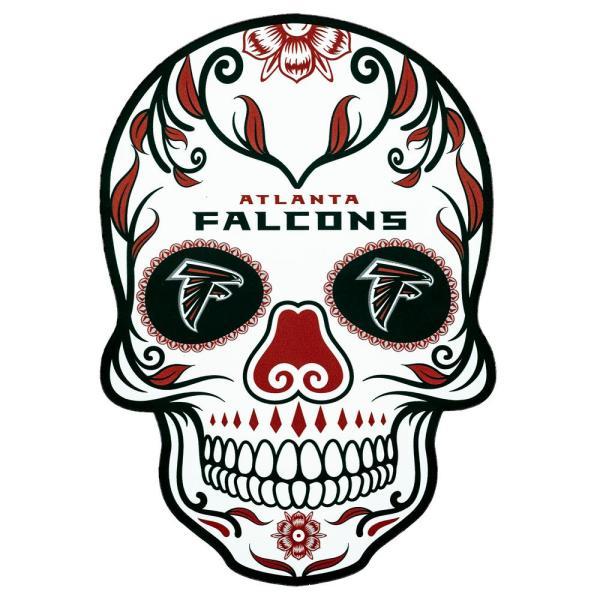 Applied Icon NFL Atlanta Falcons Outdoor Skull Graphic- Large NFOS0203