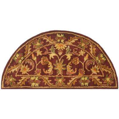 Antiquity Wine/Gold 2 ft. x 4 ft. Area Rug