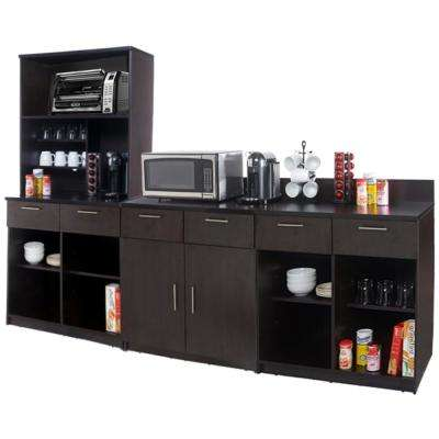 Coffee Kitchen Espresso Sideboard with Lunch Break Room Functionality with Assembled Commercial Grade 3393