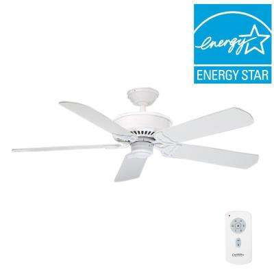 Panama DC 54 in. Indoor Snow White Ceiling Fan with Remote