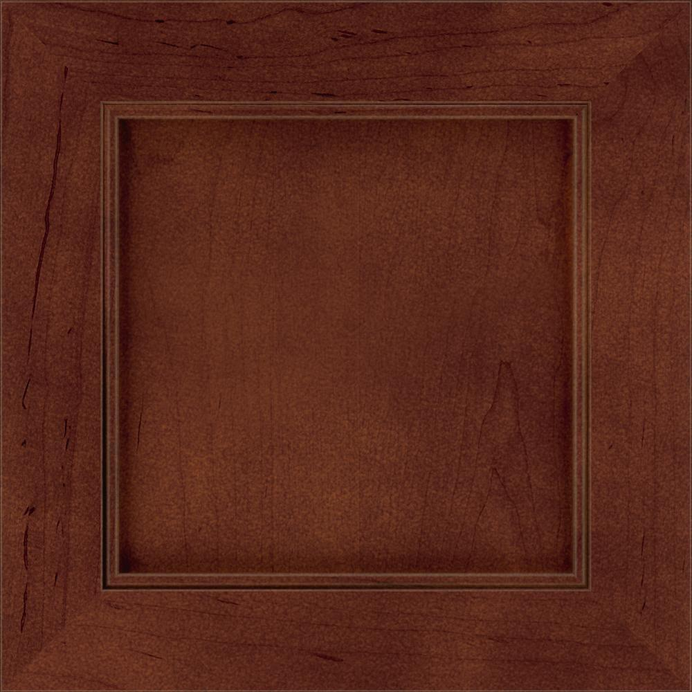 Thomasville Classic 14.5x14.5 in. Cabinet Door Sample in Buxton Maple Brulee