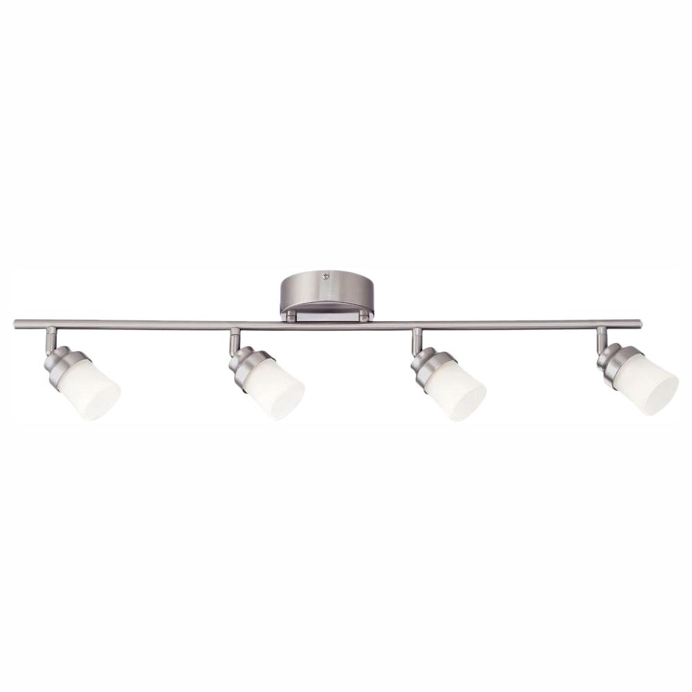 Envirolite 3 Ft Brushed Nickel Integrated Led Track Lighting Kit With 4 Lights