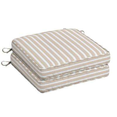 Sunbrella Shore Linen Square Outdoor Seat Cushion (2-Pack)