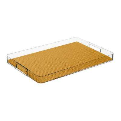 Fishnet Golden Rectangular Serving Tray