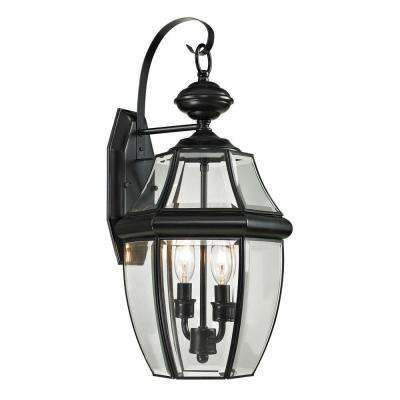 Ashford 2-Light Outdoor Black Sconce