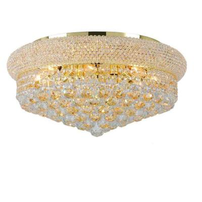 Empire Collection 10-Light Crystal and Gold Ceiling Light